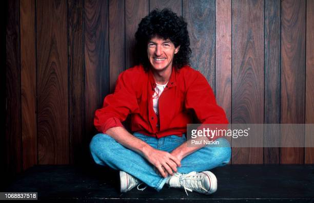 Kevin Cronin of REO Speedwagon at the Rosemont Horizon in Rosemont Illinois January 19 1985