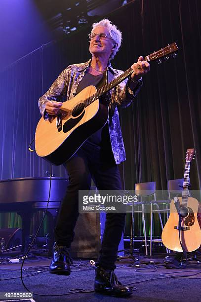 Kevin Cronin of REO Speedwagon performs onstage at the TJ Martell 40th Anniversary NY Gala at Cipriani Wall Street on October 15 2015 in New York City