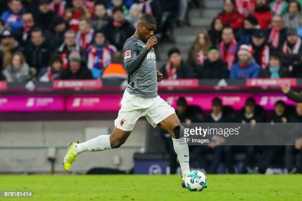 Kevin Danso of Augsburg controls the ball during the Bundesliga match between FC Bayern Muenchen and FC Augsburg at Allianz Arena on November 18 2017...