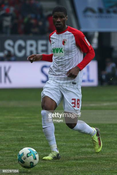 Kevin Danso of Augsburg controls the ball during the Bundesliga match between FC Augsburg and TSG 1899 Hoffenheim at WWK Arena on March 03 2018 in...