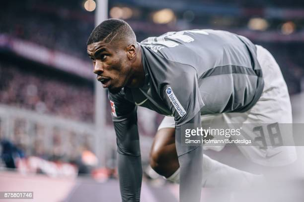 Kevin Danso of Augsburg in action during the Bundesliga match between FC Bayern Muenchen and FC Augsburg at Allianz Arena on November 18 2017 in...