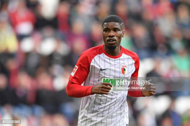 Kevin Danso of Augsburg is seen during the Bundesliga match between FC Augsburg and Bayer 04 Leverkusen at WWKArena on November 4 2017 in Augsburg...