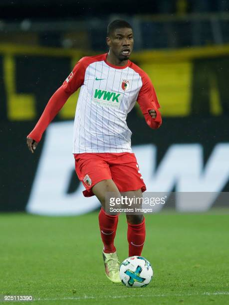 Kevin Danso of FC Augsburg during the German Bundesliga match between Borussia Dortmund v FC Augsburg at the Signal Iduna Park on February 26 2018 in...