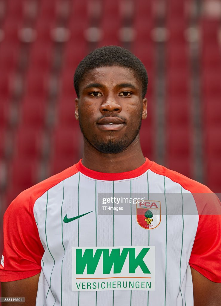 Kevin Danso of FC Augsburg poses during the team presentation at WWK Arena on July 17, 2017 in Augsburg, Germany.