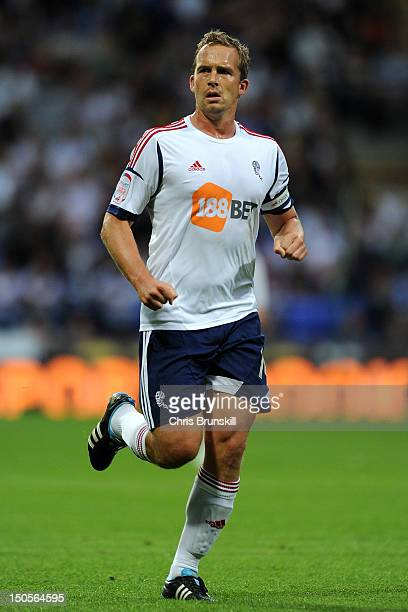 Kevin Davies of Bolton Wanderers in action during the npower Championship match between Bolton Wanderers and Derby County at Reebok Stadium on August...