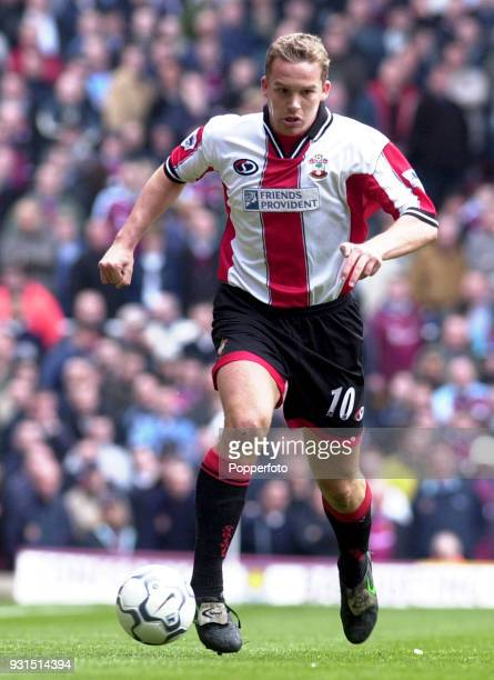 Kevin Davies of Southampton on the ball against West Ham United during the FA Carling Premiership match at Upton Park in London on May 5 2001 West...
