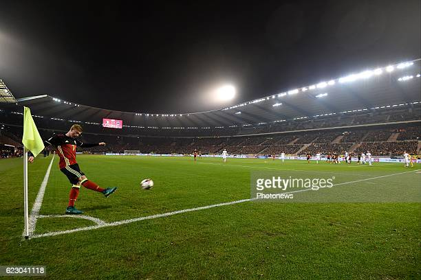 Kevin De Bruyne forward of Belgium during the World Cup Qualifier Group H match between Belgium and Estonia at the King Baudouin Stadium on November...