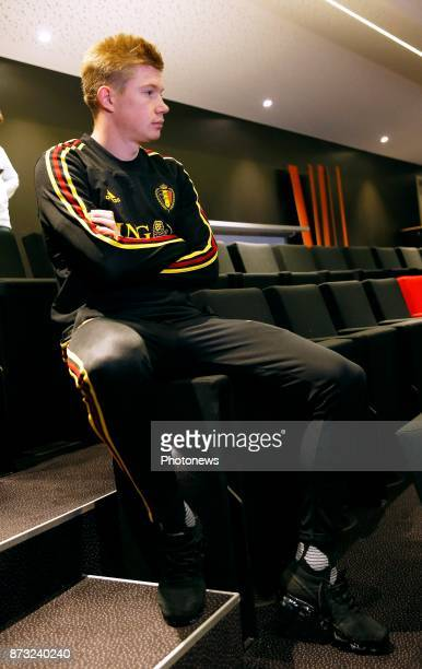 Kevin De Bruyne forward of Belgium picture during the press conference and training session of the Red Devils at the national training center on...