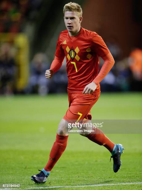 Kevin de Bruyne of Belgium during the International Friendly match between Belgium v Mexico at the Koning Boudewijnstadion on November 10 2017 in...