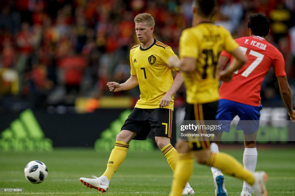 Kevin de Bruyne of Belgium during the International Friendly match between Belgium v Costa Rica at the Koning Boudewijnstadion on June 11, 2018 in Brussel Belgium