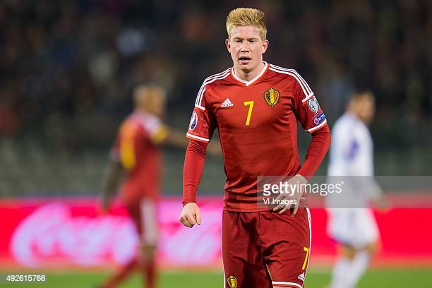 Kevin de Bruyne of Belgium during the UEFA EURO 2016 group B qualifying match between Belgium and Israel on October 13 2015 at the Koning Boudewijn...