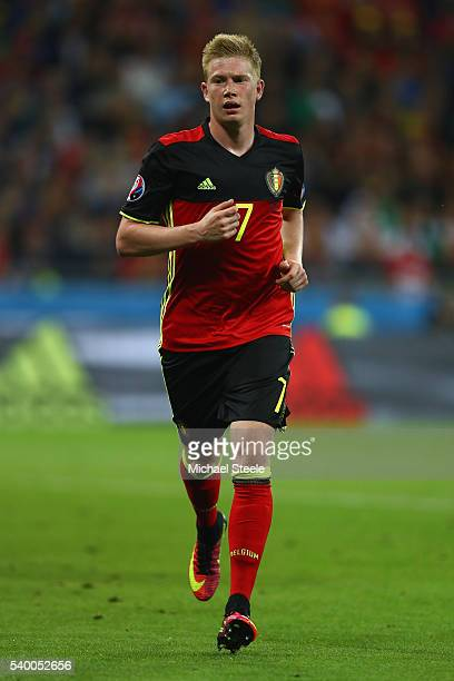 Kevin De Bruyne of Belgium during the UEFA EURO 2016 Group E match between Belgium and Italy at Stade des Lumiere on June 13 2016 in Lyon France