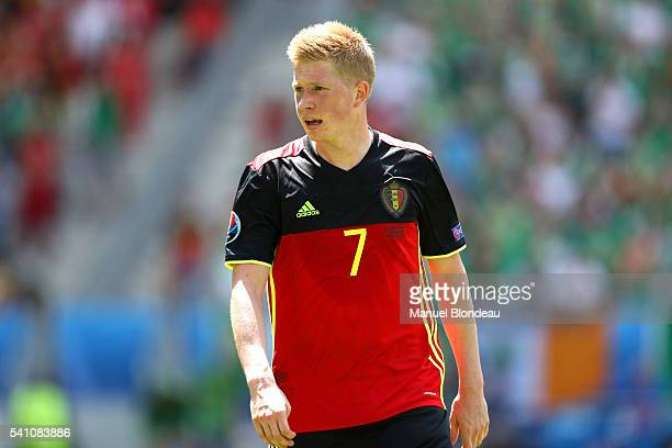 Kevin De Bruyne of Belgium during the UEFA EURO 2016 Group E match between Belgium and Republic of Ireland at Stade Matmut Atlantique on June 18 2016...