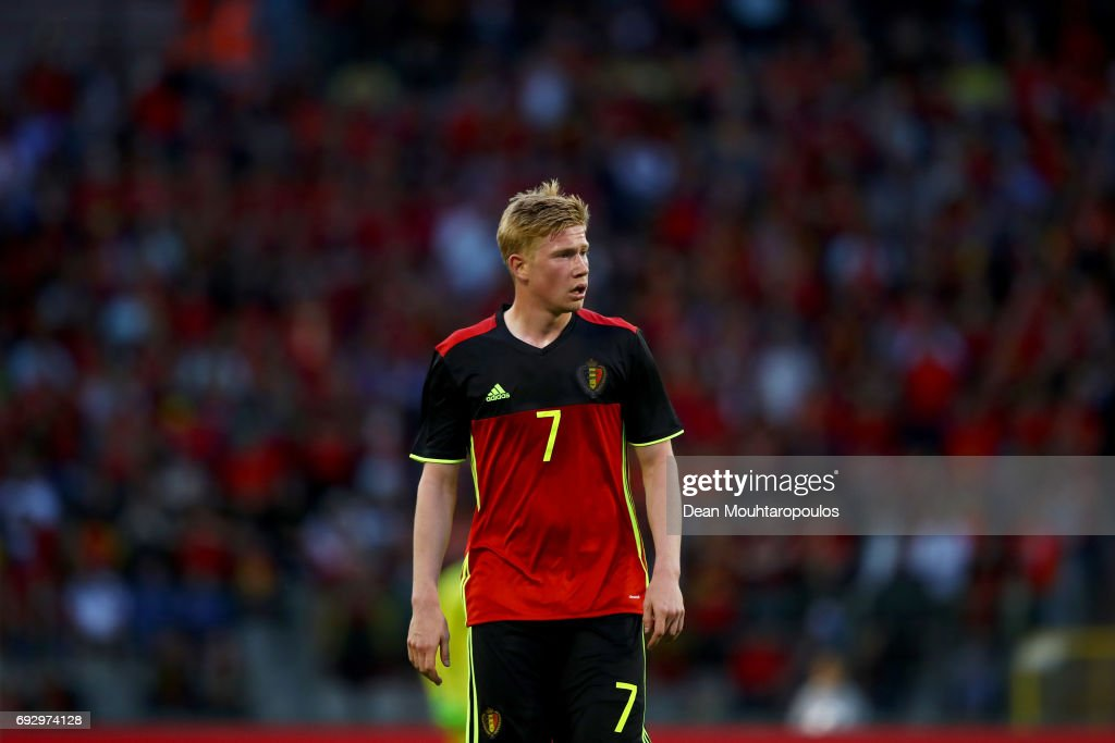Kevin De Bruyne of Belgium in action during the International Friendly match between Belgium and Czech Republic at Stade Roi Baudouis on June 5, 2017 in Brussels, Belgium.