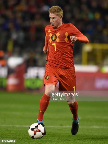 Kevin De Bruyne of Belgium in action during the international friendly match between Belgium and Mexico at King Baudouin Stadium on November 10 2017...