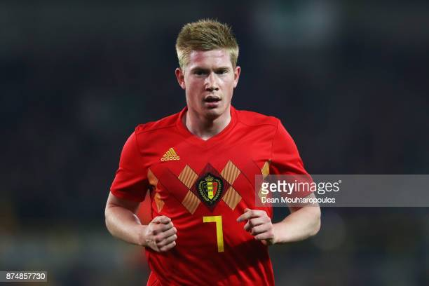Kevin De Bruyne of Belgium in action during the international friendly match between Belgium and Japan held at Jan Breydel Stadium on November 14...