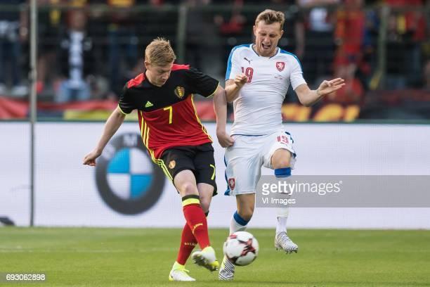Kevin de Bruyne of Belgium Ladislav Krejci of Czech Republicduring the friendly match between Belgium and Czech Republic on June 05 2017 at the...