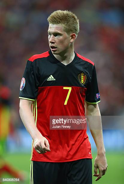 Kevin De Bruyne of Belgium looks on during the UEFA EURO 2016 Group E match between Belgium and Italy at Stade des Lumieres on June 13 2016 in Lyon...