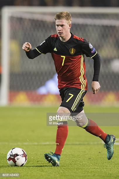 Kevin de Bruyne of Belgiumduring the FIFA World Cup 2018 qualifying match between Belgium and Estonia on November 13 2016 at the Koning Boudewijn...