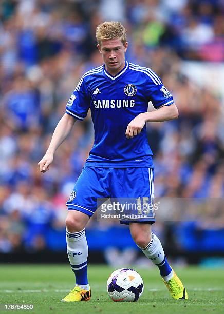 Kevin De Bruyne of Chelsea in action during the Barclays Premier League match between Chelsea and Hull City at Stamford Bridge on August 18 2013 in...