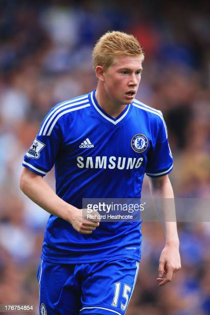 Kevin De Bruyne of Chelsea looks on during the Barclays Premier League match between Chelsea and Hull City at Stamford Bridge on August 18 2013 in...