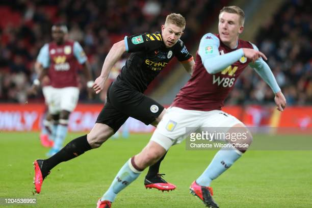 Kevin De Bruyne of Man City during the Carabao Cup Final between Aston Villa and Manchester City at Wembley Stadium on March 1 2020 in London England