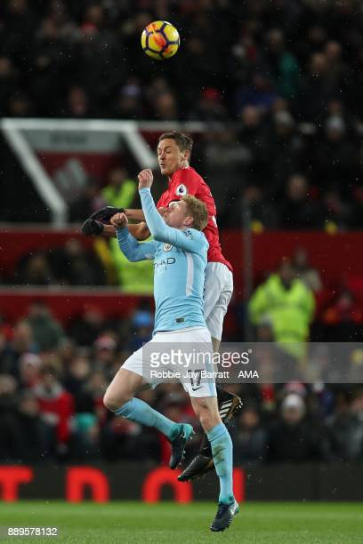 Kevin De Bruyne of Manchester City and Nemanja Matic of Manchester United during the Premier League match between Manchester United and Manchester...