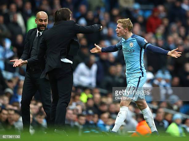 Kevin De Bruyne of Manchester City appeals during the Premier League match between Manchester City and Chelsea at Etihad Stadium on December 3 2016...
