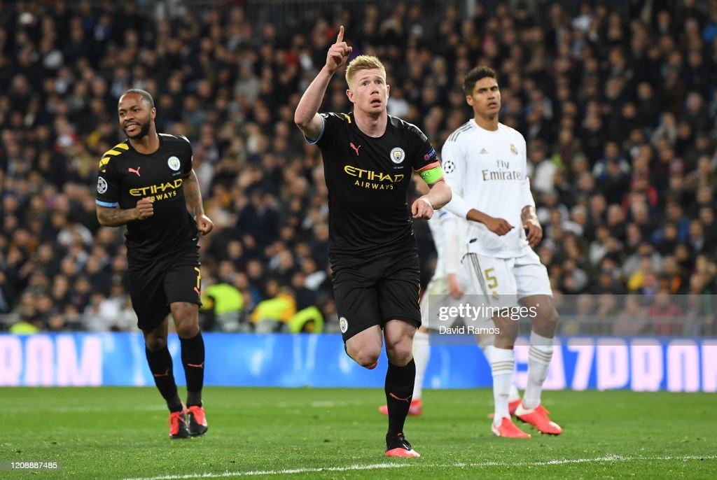 Real Madrid v Manchester City - UEFA Champions League Round of 16: First Leg : Nachrichtenfoto
