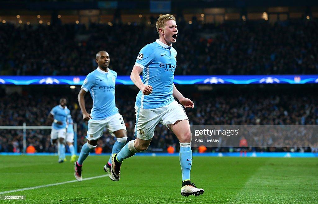 Manchester City FC v Paris Saint-Germain - UEFA Champions League Quarter Final: Second Leg : News Photo
