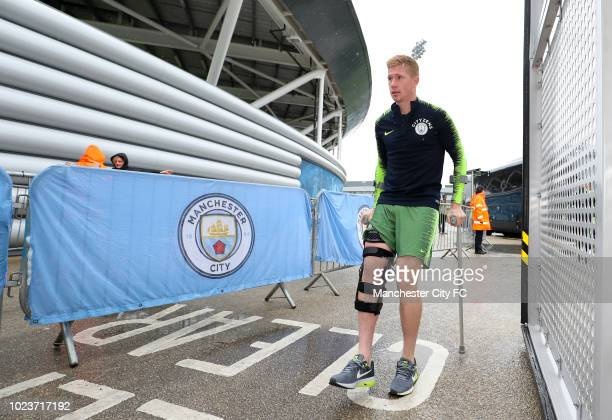 Kevin De Bruyne of Manchester City during Manchester City Open Training Session at Manchester City Football Academy on August 26 2018 in Manchester...