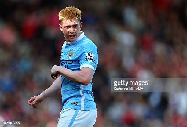 Kevin De Bruyne of Manchester City during the Barclays Premier League match between AFC Bournemouth and Manchester City at Vitality Stadium on April...