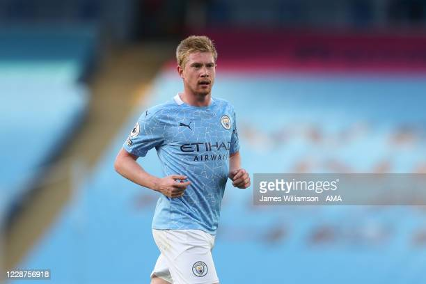 Kevin De Bruyne of Manchester City during the Premier League match between Manchester City and Leicester City at Etihad Stadium on September 27 2020...