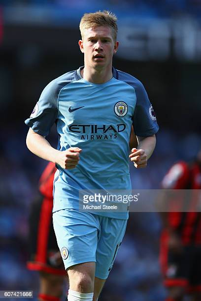 Kevin De Bruyne of Manchester City during the Premier League match between Manchester City and AFC Bournemouth at Etihad Stadium on September 17 2016...