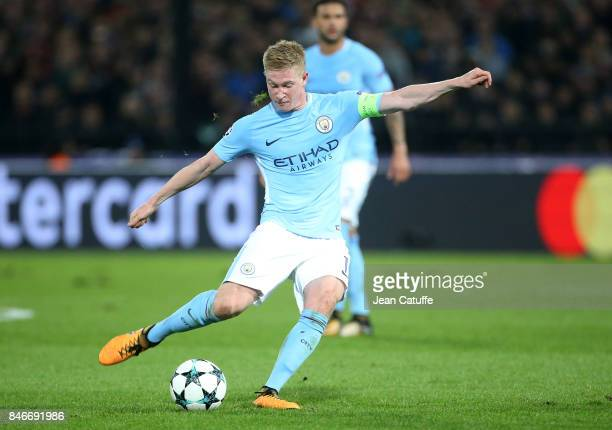 Kevin de Bruyne of Manchester City during the UEFA Champions League match between Feyenoord Rotterdam and Manchester City at Stadion Feijenoord on...