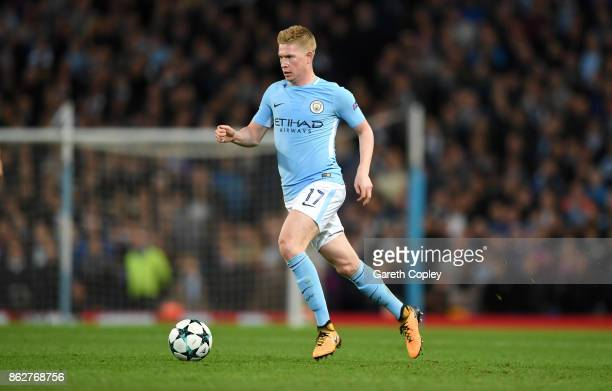 Kevin De Bruyne of Manchester City during the UEFA Champions League group F match between Manchester City and SSC Napoli at Etihad Stadium on October...