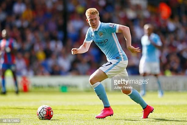 Kevin De Bruyne of Manchester City in action during the Barclays Premier League match between Crystal Palace and Manchester City at Selhurst Park on...
