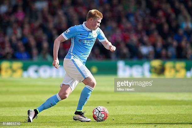 Kevin De Bruyne of Manchester City in action during the Barclays Premier League match between AFC Bournemouth and Manchester City at Vitality Stadium...