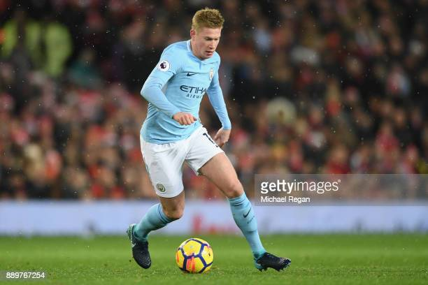 Kevin De Bruyne of Manchester City in action during the Premier League match between Manchester United and Manchester City at Old Trafford on...