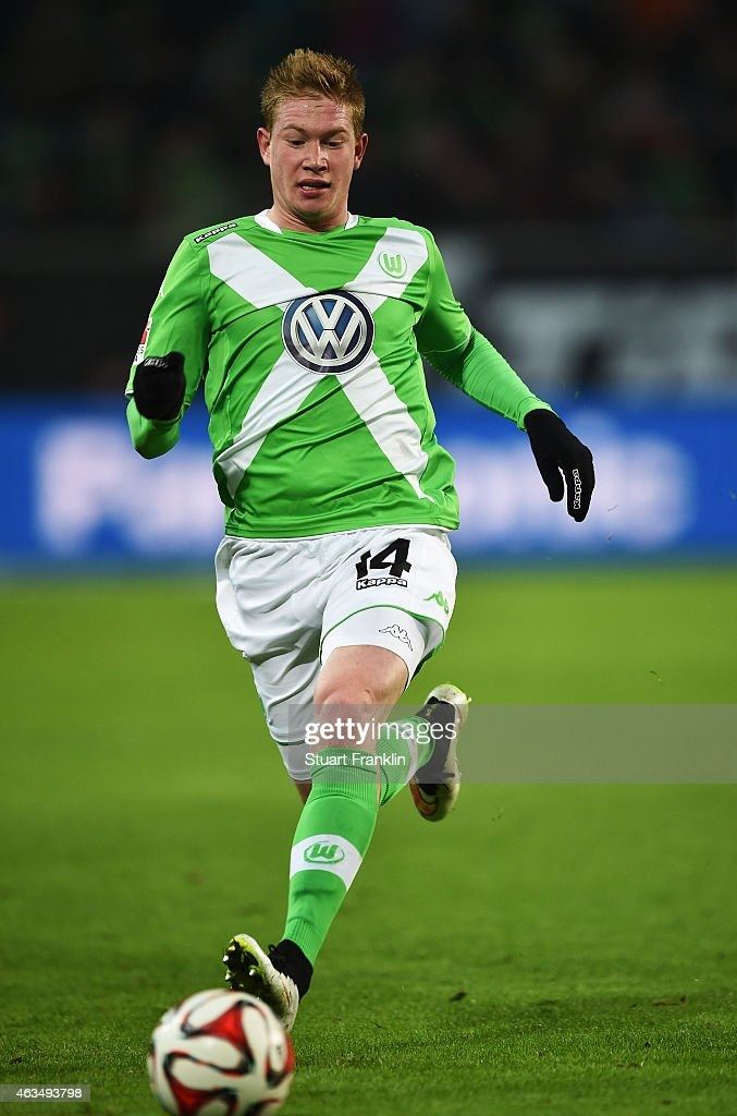 Kevin De Bruyne of Wolfsburg in action during the Bundesliga match between VfL Wolfsburg and 1899 Hoffenheim at Volkswagen Arena on February 7, 2015 in Wolfsburg, Germany.