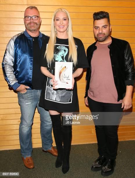Kevin Dickson Erika Jayne and Jack Ketsoyan attend the Jack Ketsoyan and Kevin Dickson book signing for 'Blind Item' on June 06 2017 in Santa Monica...