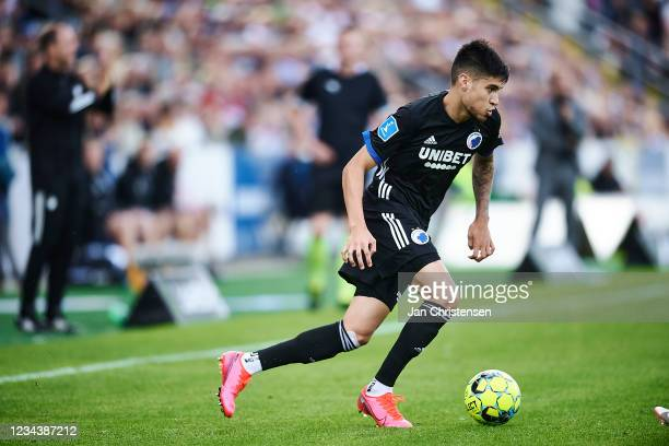 Kevin Diks of FC Copenhagen in action during the Danish 3F Superliga match between OB Odense and FC Copenhagen at Nature Energy Park on August 01,...