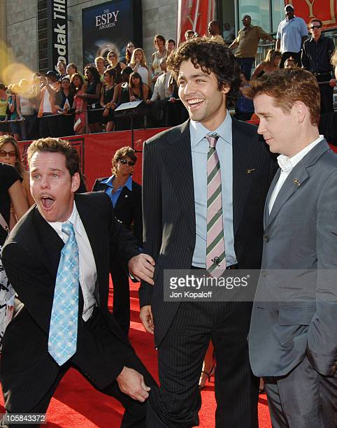 Kevin Dillon Adrian Grenier and Kevin Connolly during 2005 ESPY Awards Arrivals at Kodak Theatre in Hollywood California United States