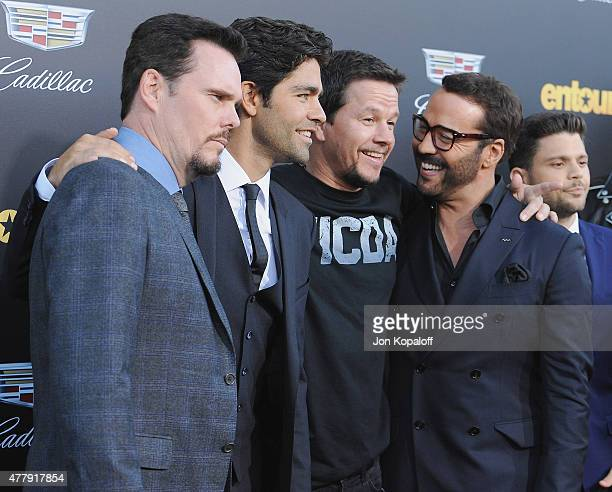"""Kevin Dillon, Adrian Grenier, Mark Wahlberg and Jeremy Piven attend at the Los Angeles Premiere """"Entourage"""" at Regency Village Theatre on June 1,..."""