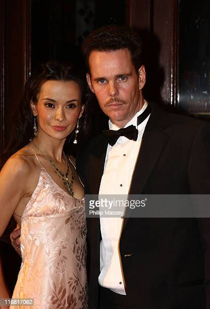 Kevin Dillon and Guest arrive for the Irish Film Television Awards at Gaiety Theatre on February 17 2008 in Dublin Ireland
