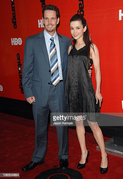 """Kevin Dillon and Jane Stuart during HBO Presents The Fourth Season Premiere of """"Entourage"""" at Ziegfeld Theater in New York City, New York, United..."""
