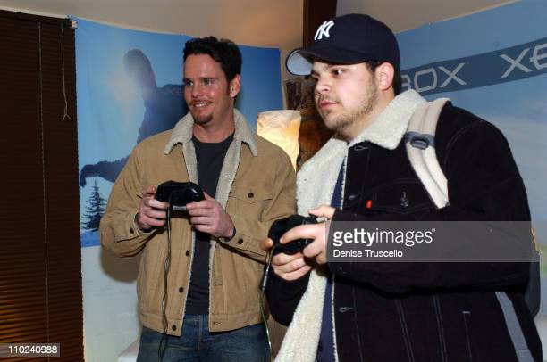 Kevin Dillon and Jerry Ferrara during 2005 Park City Levi's Ranch at Levi's House in Park City Utah United States