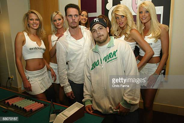 Kevin Dillon and Jerry Ferrera of the HBO TV hit comedy series Entourage attend the Palms Casino Resort unveiling of the Entourage Suite Package...