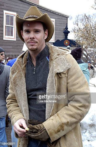 Kevin Dillon during 2005 Sundance Film Festival Taping of Entourage January 27 2005 at Main Street in Park City Utah United States