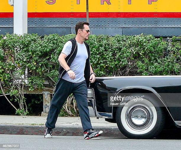 Kevin Dillon is seen on the set of 'Entourage' on February 07 2015 in Los Angeles California